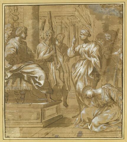 Sainte Bibiane et sa soeur Demetria devant Julien l'Apostat