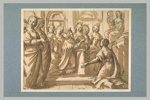 Le roi Salomon adorant les idoles