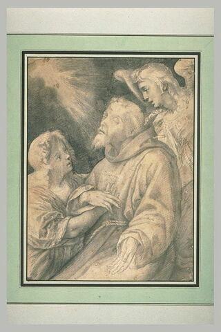 Saint François évanoui soutenu par deux anges