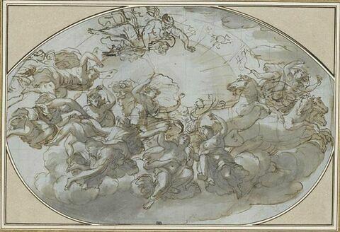 Le Char d'Apollon entouré des Heures