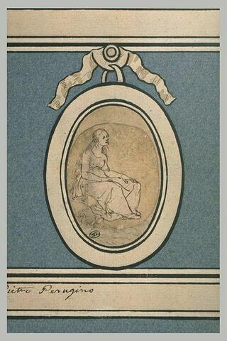 Sainte assise, de profil : sainte Madeleine?