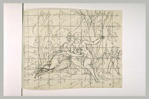 Angélique et Médor assis dans un bois