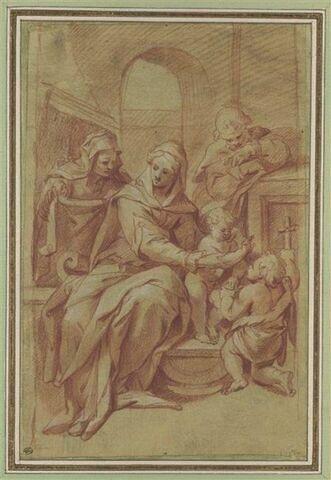 La Sainte Famille, sainte Anne et saint Jean
