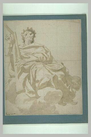 Le roi David jouant de la harpe