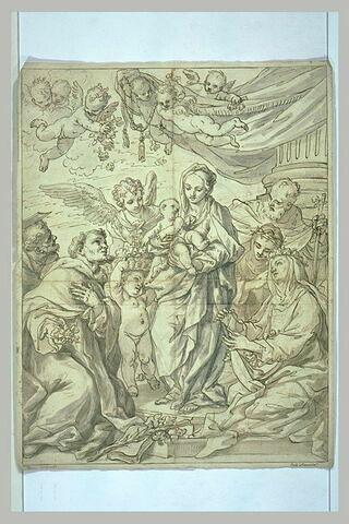 La Vierge et l'Enfant entourés de saints