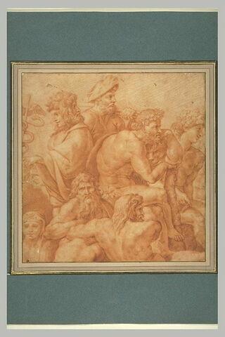 Janus, Vertumne, Hercule, Bacchus et deux dieux marins