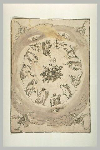 Le Christ s'élevant au milieu des apôtres : l'Ascension?