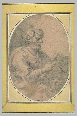 Saint Marc évangéliste, assis et lisant