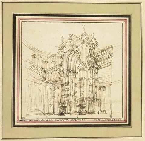 Décoration de théâtre : porte d'un palais
