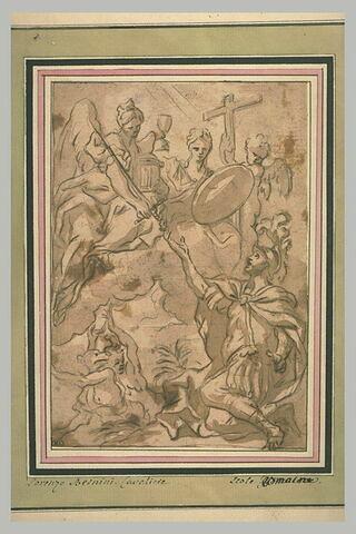 La Foi remettant une épée à l'Empereur Constantin