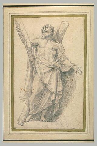 Saint André tenant sa croix