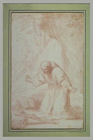 Saint François d'Assise en adoration devant le crucifix