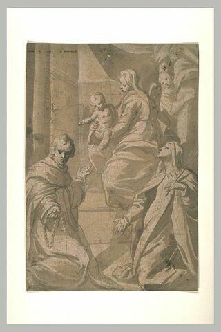 Vierge à l'Enfant donnant le rosaire à saint Dominique