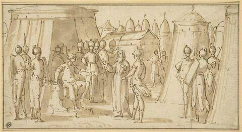 Pierre l'Ermite prédisant l'avenir à Godefroy de Bouillon