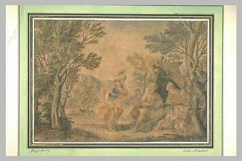 Clorinde se présentant devant une famille de bergers