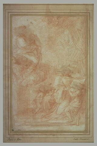 Ignace de Loyola recevant les règles de son ordre dictées par la Vierge