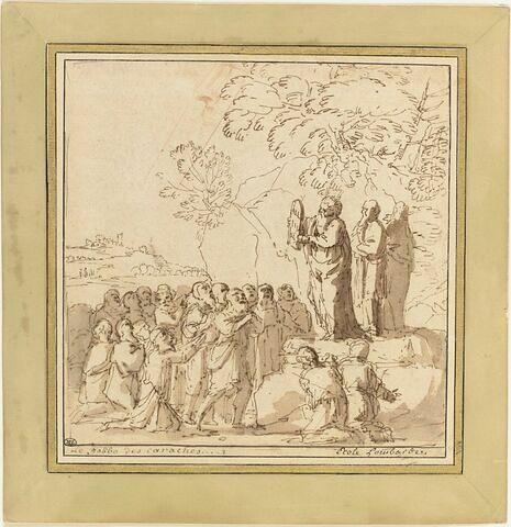 Moïse présentant au peuple les Tables de la Loi
