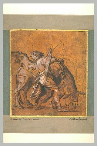 Ange et âne, étude pour le Repos de la Sainte Famille