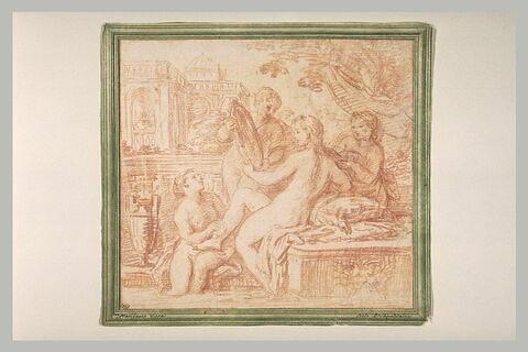 Vénus au bain aidée par les Trois Grâces