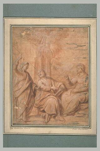 Scène du Nouveau Testament : la Sainte Famille (?)