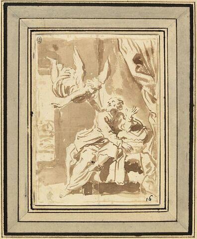 L'ange venant avertir saint Joseph de fuir en Egypte