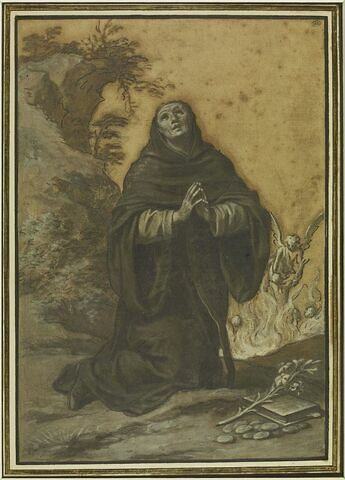 Saint Antoine de Padoue, en prière dans le désert