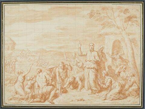 Miracle de saint François Xavier faisant jaillir une source