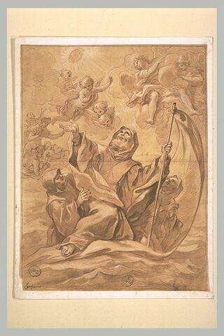 Saint François de Paule traversant le détroit de Messine sur son manteau
