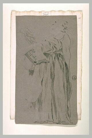 Etude de draperie pour la figure d'un prêtre officiant