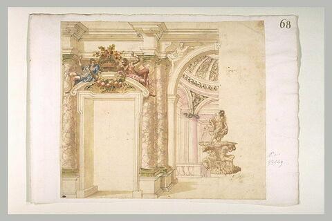 Etude d'architecture pour l'intérieur d'un palais