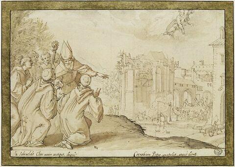Saint Annon faisant construire l'abbaye de Saalfeld