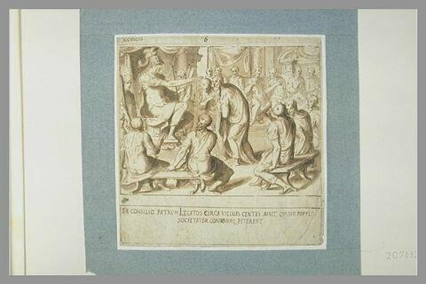 Scène de l'histoire de Romulus