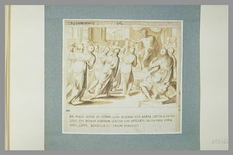 Un groupe de figures prosterné devant Tarquinius Priscus