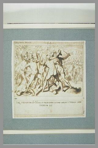 Combat livré par Tarquin l'Ancien, aux portes de Rome