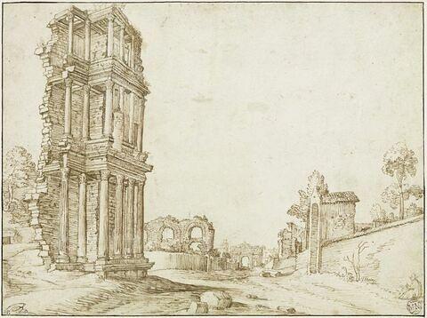Vue du Septizonium, à Rome