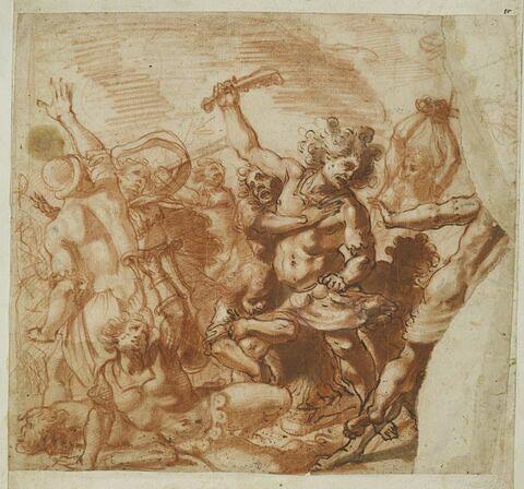 Samson assommant les philistins avec une mâchoire d'âne