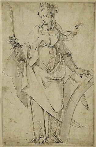 Sainte Catherine tenant une palme