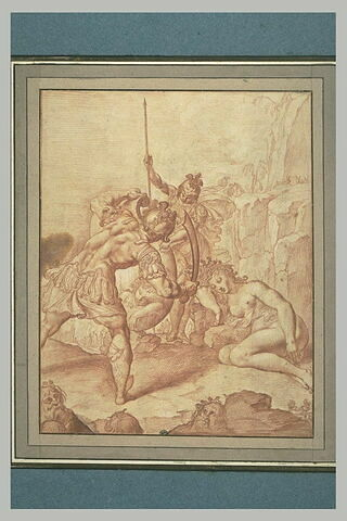 Persée décapitant Méduse avec l'aide de Minerve