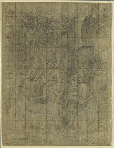Saint Antoine trouvant saint Paul mort dans la caverne