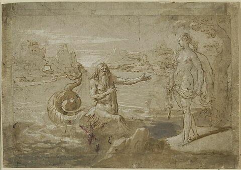 Glaucus et la nymphe Scylla
