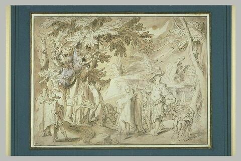 Saint Jean-Baptiste prêchant dans une forêt
