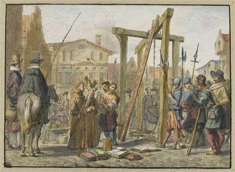 Jean Brugier pendu et brûlé pour hérésie à Issoire en 1547