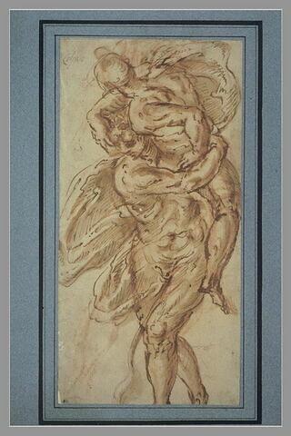 Hercule tenant Antée dans ses bras et l'étouffant