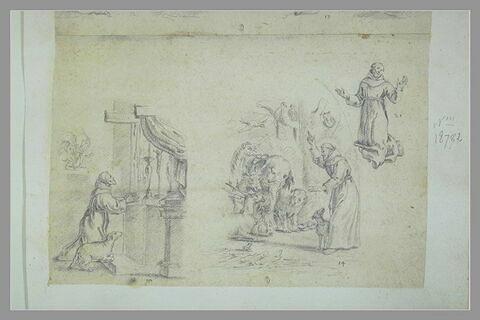 Trois scènes de la vie de saint François d'Assise