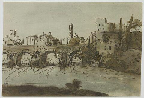 Pont sur un rivière traversant une ville