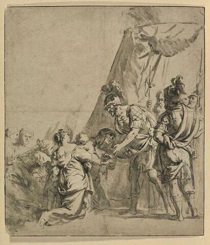Alexandre recevant la famille de Darius