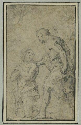 Le bourreau s'approchant de saint Jean Baptiste pour le décapiter