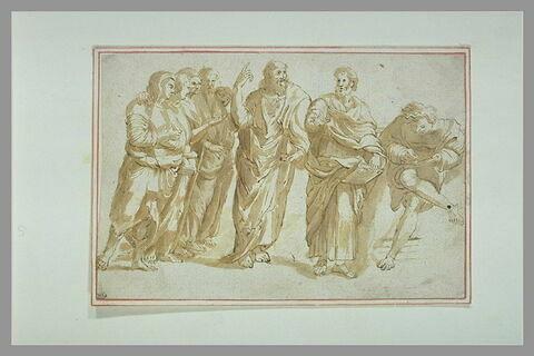 Un apôtre enseignant et ses disciples