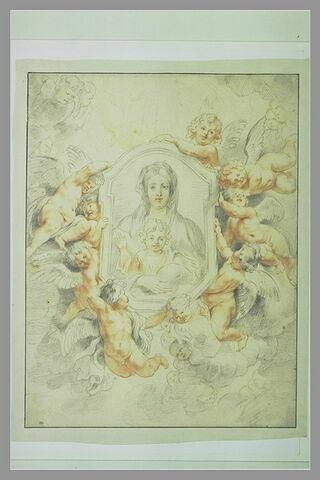 Etude pour l'image de la 'Vierge Miraculeuse'