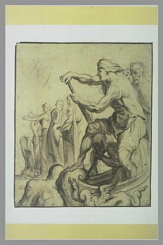 Embarquement d'Ulysse à Ténédos après avoir sacrifié aux dieux